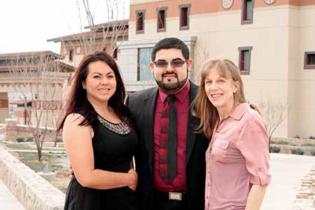 UTEP alumni Kristen Hernandez, Jacob Martinez and Holly Mata, Ph.D., from the Hispanic Health Disparities Research Center are working on a first-of-its-kind study to understand LGBT health Issues. Photo by J.R. Hernandez / UTEP News Service
