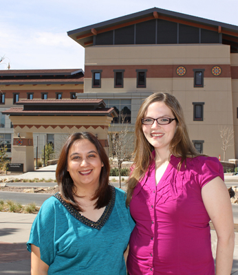 Master of Social Work Students Elisa Dobler and Sara Polk are the first students from the Department of Social Work to participate in the Archer Center's Graduate Program in Public Policy. Photo by Laura Trejo / UTEP News Service