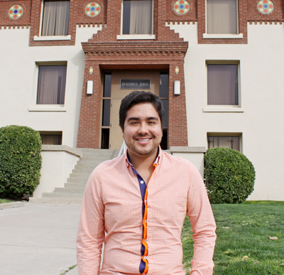 Joshua Acevedo, a political science graduate student, will represent UTEP in Washington, D.C., this summer as a fellow in the Archer Center's Graduate Program in Public Policy. Photo by Laura Trejo / UTEP News Service
