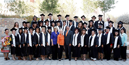 Forty-three promotoras de salud, or community health workers, graduated from the Community Health Workers Training Program at The University of Texas at El Paso June 6, in the Health Sciences and Nursing Building. Photo by Ivan Pierre Aguirre / UTEP News Service