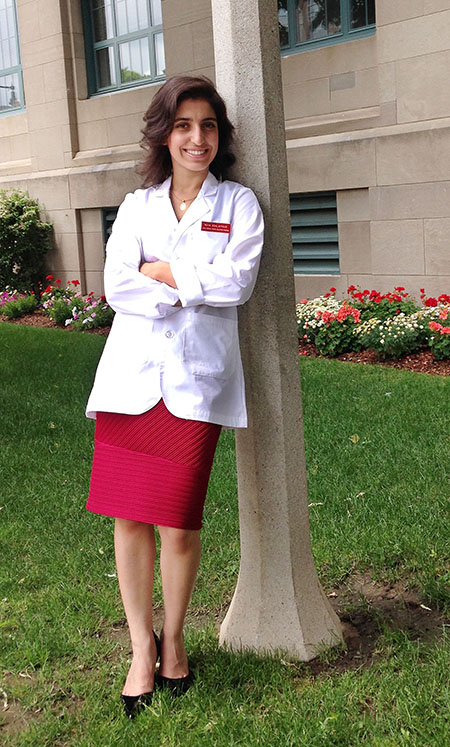 Roya Edalatpour is a rising junior at UTEP who is studying electrical engineering, but plans to pursue a dual M.D.-Ph.D. from Boston University School of Medicine. Photo courtesy of Roya Edalatpour.