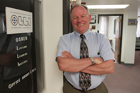 Ian Wilson was named the new executive director of OLLI in May 2014. Photo by J.R. Hernandez / UTEP News Service.