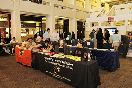 Events such as the Resource Fair and Sports Clinic during UTEP's Ability Awareness Week aim to increase disability awareness on campus, change attitudes regarding disability and increase campus accessibility. Photo by J.R. Hernandez / UTEP News Service