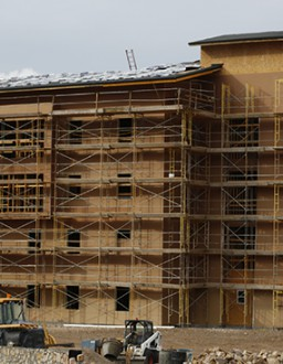 Crews Work on Housing Units, Ready to Start Commons Building