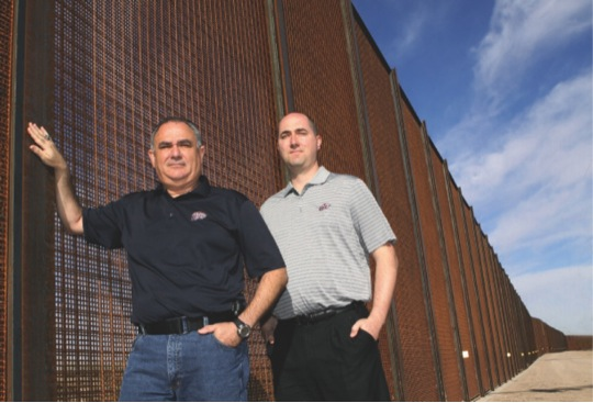 Victor Manjarrez (left), associate director of the National Center for Border Security and Immigration, and Research Assistant Professor Kyle Susa, Ph.D., predicted the 2014 border crisis and warned government officials about the impending mass influx of children.
