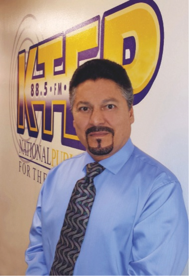 John Carrillo, the new development director at KTEP-FM (88.5), looks forward to helping the station build its revenue stream and boost its reputation. He earned his bachelor's degree in mass communication in 1979 and master's in communication studies in May 2014 from UTEP.