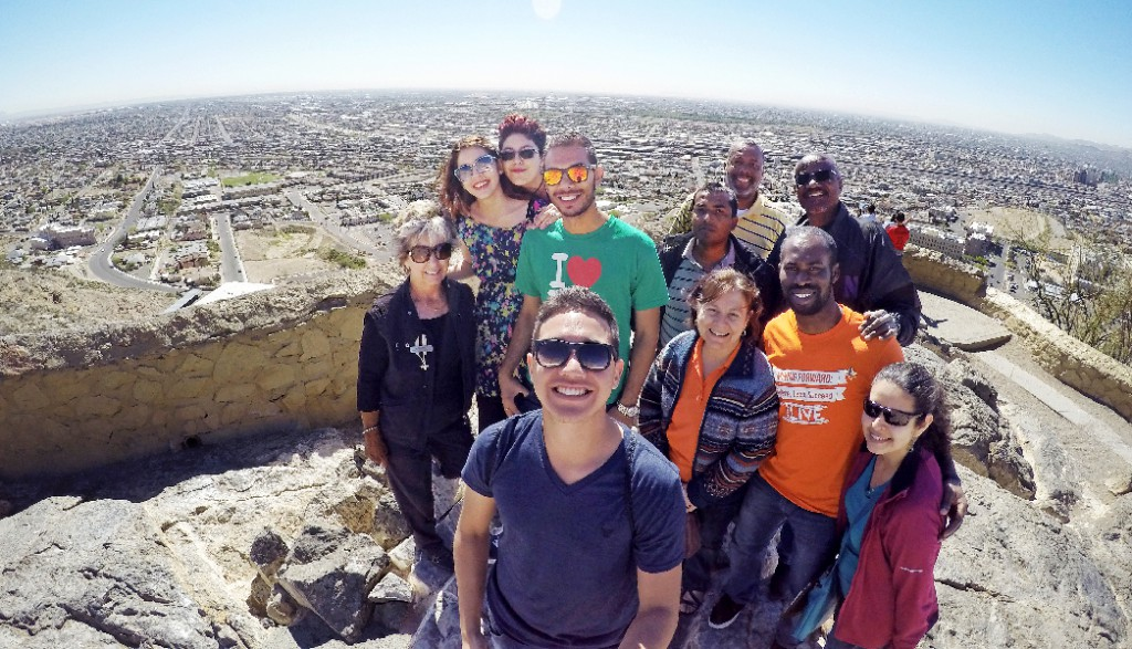 A recent tour of El Paso by some of UTEP's foreign students was one of the latest efforts by the University's Office of International Programs to engage students during their time in the region. Photo courtesy of the Office of International Programs.