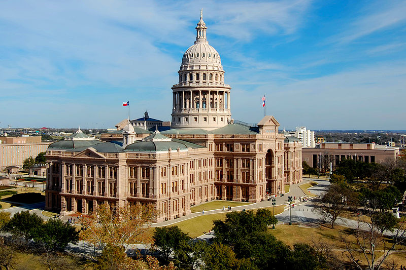 Three UTEP graduate students will take part in the Texas Energy Innovation Challenge at the Texas State Capitol building, pictured here, on Friday, May 1. Photo courtesy of Wikipedia.