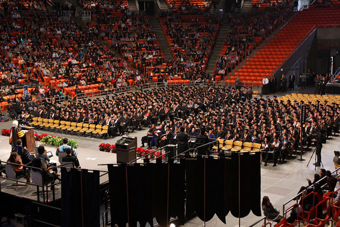 More than 2,500 candidates are eligible to walk the stage at the May 16, 2015 Spring Commencement. Photo by Laura Trejo / UTEP News Service