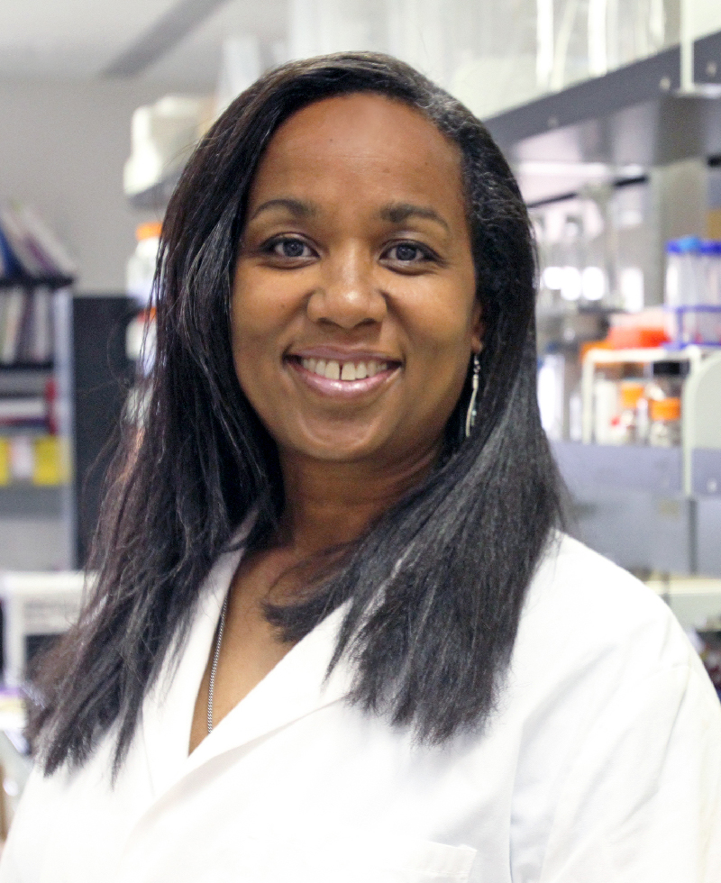 Charlotte M. Vines, Ph.D., assistant professor of biological sciences at UTEP, received a $1.51 million, four-year NIH grant. Photo by J.R. Hernandez / UTEP News Service
