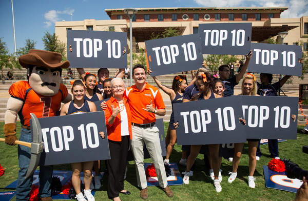 For a third consecutive year, UTEP is ranked among Washington Monthly's Top 10 national universities in 2015. UTEP remained ranked #1 for the fourth year in a row in the category of social mobility. Photo by Ivan Pierre Aguirre / UTEP News Service