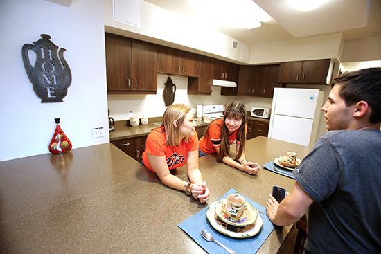 The 352 residents of Miner Canyon, The University of Texas at El Paso's latest student housing community, will start to move into their apartments Saturday, Aug. 15, 2015. UTEP officially opens the complex at 11 a.m. Monday, Aug. 17, 2015, at 3490 Sun Bowl Drive.