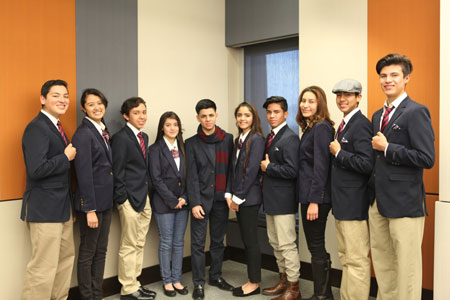Alpha Youth Leadership Academy participants include, from left, Christian Ledesma, Esmeralda Garfio, Hector Escamilla, Nancy Garcia, Omar Delgado, Vanessa Castillo, Manuel Yanez, Brandy Hernandez, Brian Reyes and Ulises Ruelas. Funded by the UTEP School of Nursing and the JPB Foundation, the Alpha Youth Leadership Academy is a skill and character development program for students in 8th to 12th grades who live in public housing in El Paso. Photo courtesy of Maria F. Hidalgo.