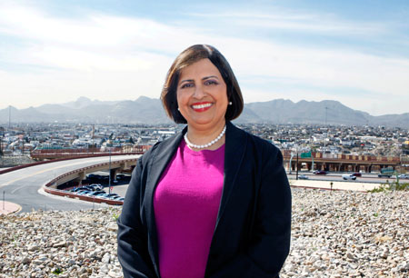 Political Science Professor Irasema Coronado, Ph.D., recently returned to UTEP after three years serving as the executive director of an international environmental commission. Photo by Laura Trejo / UTEP Communications