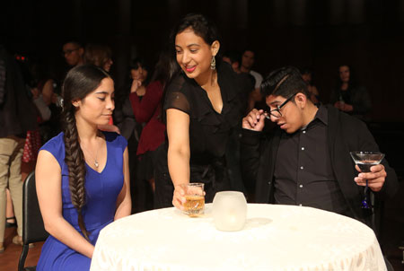 "Students perform in Opera UTEP's spring show, ""Speed Dating Tonight."" Photo by J.R. Hernandez / UTEP Communications"