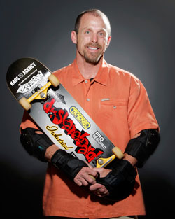 "William Robertson, Ph.D., or ""Dr. Skateboard."" Photo by UTEP Communications"