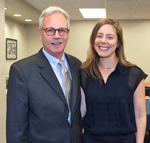 Mark Lusk, Ed.D., professor of social work, and Amy Wagler, Ph.D., associate professor of mathematical sciences