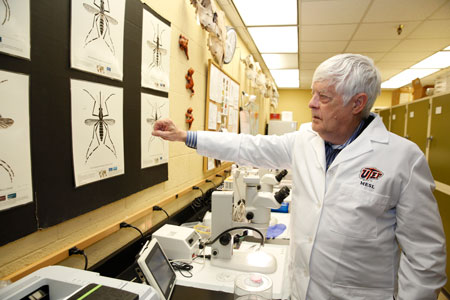 UTEP's Mosquito Ecology and Surveillance Laboratory is leading the hunt for Zika and related viruses along the U.S.-Mexico border. Photo by Ivan Pierre Aguirre / UTEP Communications