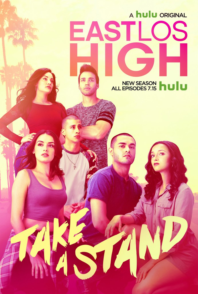 "A poster for the new season of Hulu's ""East Los High."" The Emmy-nominated series is about the lives of students at a fictional high school in East Los Angeles. Image courtesy of Hulu."