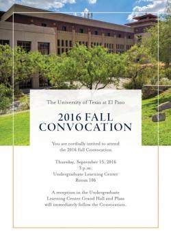 2016 Fall Convocation