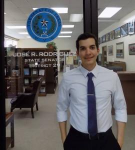 David A. Flores Servin spent his summer interning with state Sen. José Rodríguez.  Photo courtesy of  David A. Flores Servin