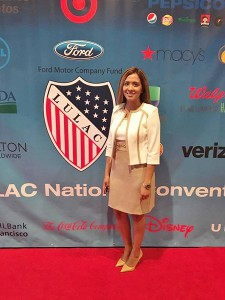 Evelyn Garcia spent her summer working at U.S. Department of Veterans Affairs Central Office in Washington D.C. She was assigned to the Center for Minority Veterans, where she served as an advocate for minority veterans.<br /> Photo courtesy of Evelyn Garcia