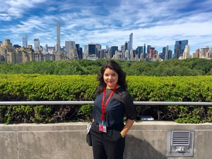 Paloma Martinez spent her summer studying art history at the New York Metropolitan Museum of Art.  Photo courtesy of Paloma Martinez