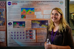 Kelsey Mason participated in a 10-week internship at the NASA Goddard Space Flight Center in Greenbelt, Maryland. She worked in the center's Planetary Geodynamics Laboratory.  Photo courtesy of Kelsey Mason