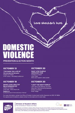 UTEP Events to Bring Awareness During Domestic Violence Prevention and Action Month