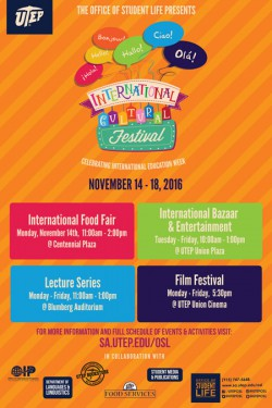 UTEP to Kick Off 2nd Annual International Cultural Festival