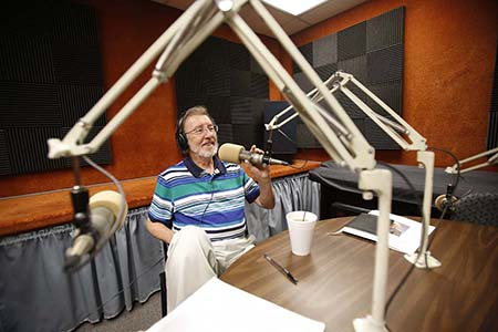 "Longtime educator Keith Howard Pannell, Ph.D., is approaching nearly five decades in higher education. Pannell also hosts ""Science Studio,"" a half-hour, weekly segment on KTEP-FM (88.5). Photo by J.R. Hernandez / UTEP Communications"