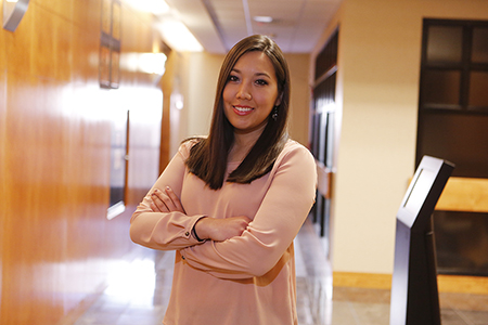 Yoshika Amamori received a Master of Accountancy from UTEP on Dec. 10. Photo by J.R. Hernandez / UTEP Communications