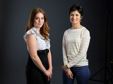 Karen Yañez and Jazmin Gonzalez Photo by: UTEP Communications
