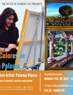 "Art Student Launches Campus Solo Exhibition ""Los Colores de la Paloma"""